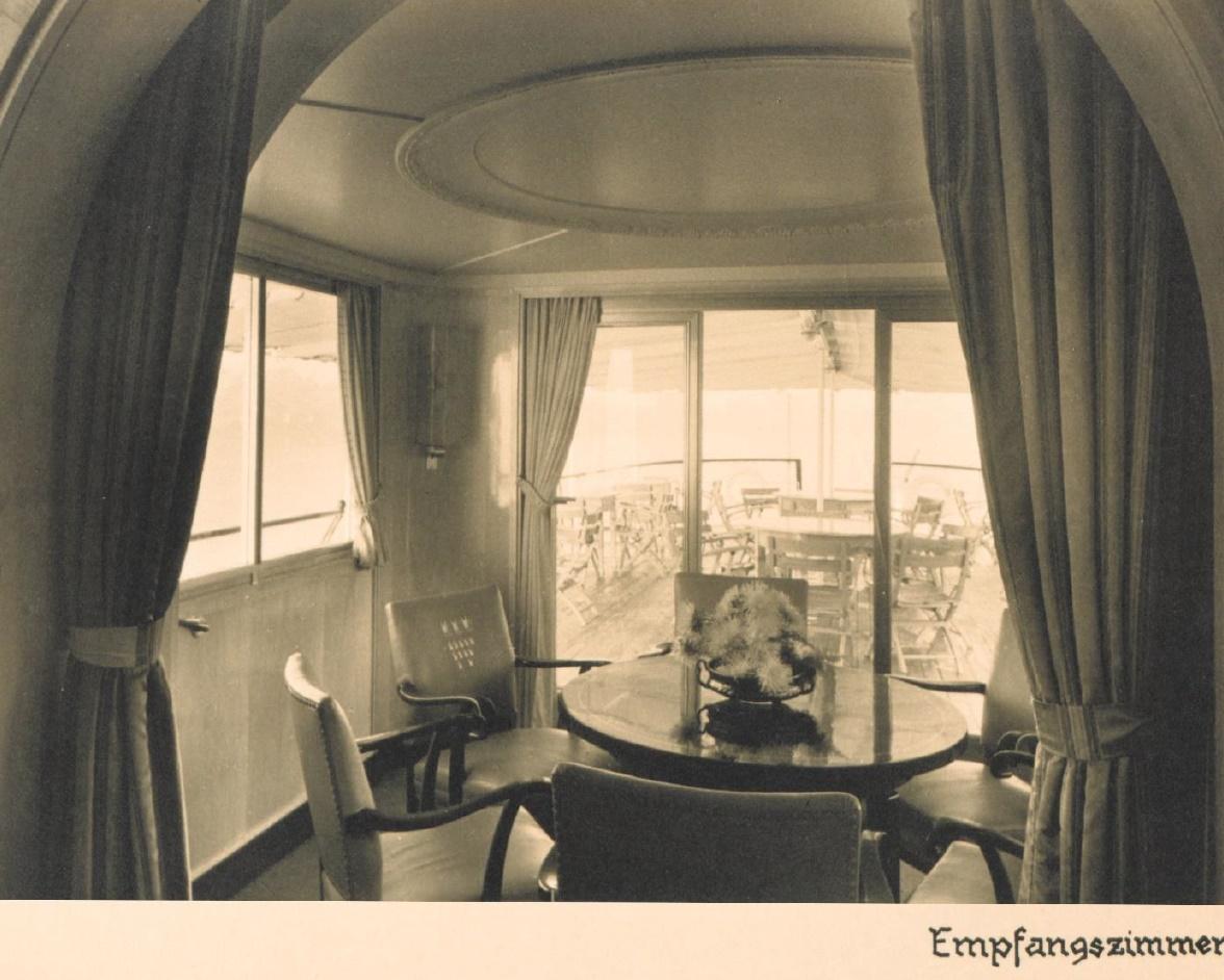 Rheinschiff Hansestadt Köln -  Innenaufnahme Empfangsraum - MS Stadt Köln