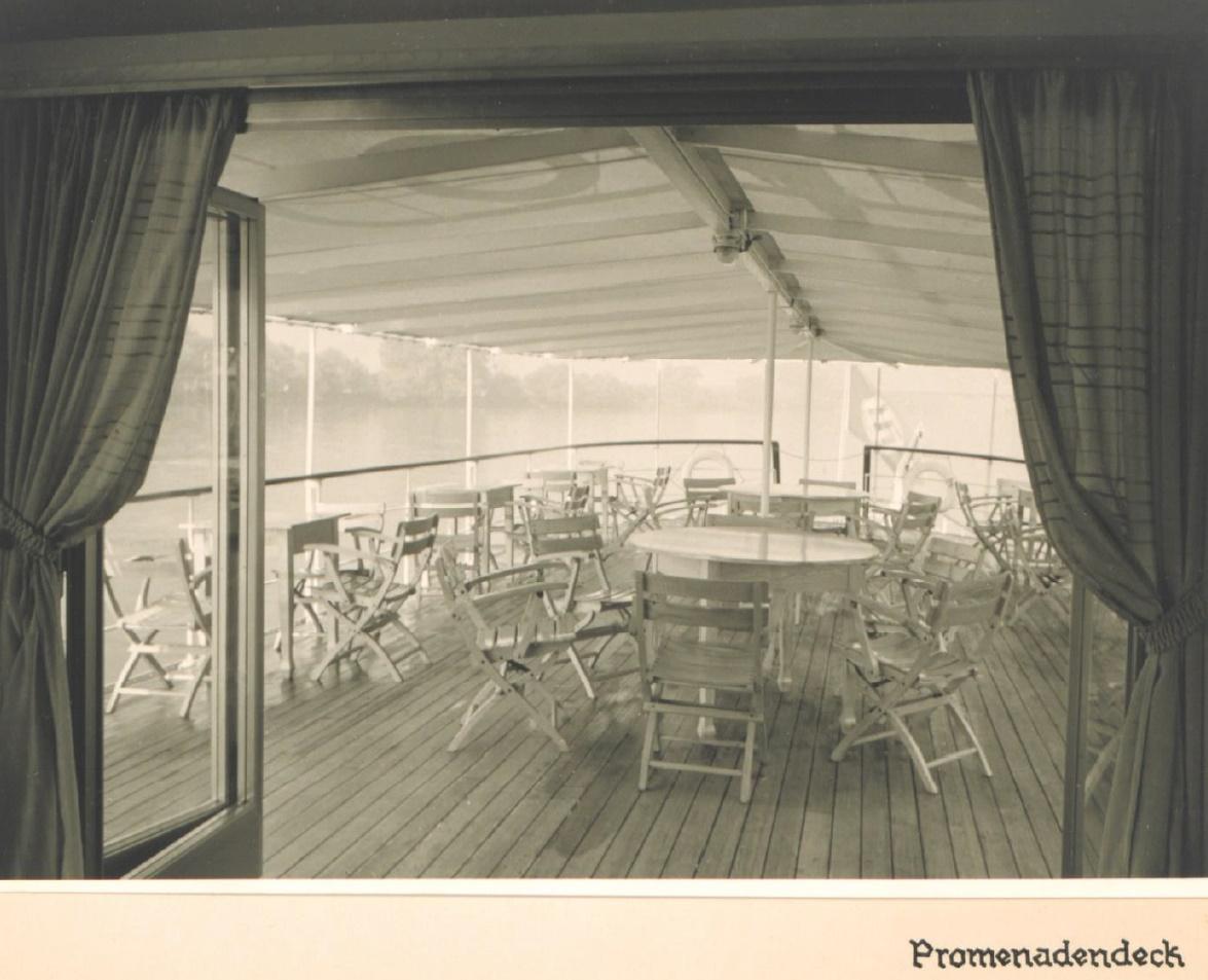 Rheinschiff Hansestadt Köln -  Promenadendeck - MS Stadt Köln
